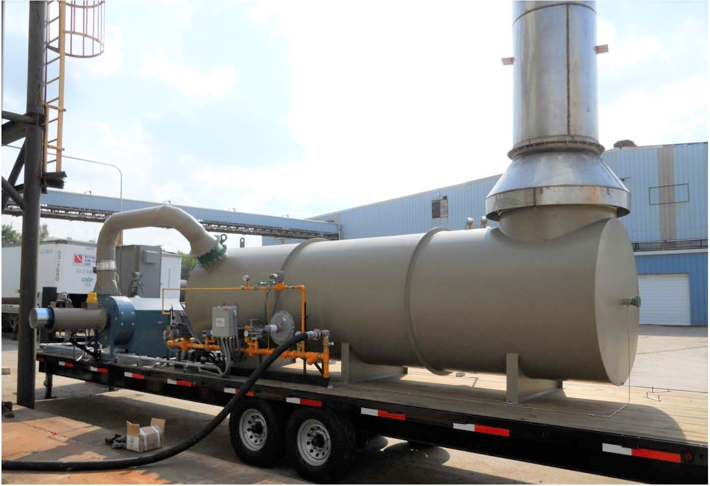 Rental Oxidizer hooked up at site
