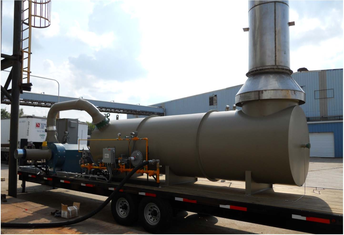 Portable Thermal Oxidizers Trailer Mounted Thermal